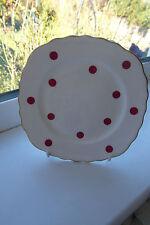 Royal Vale Polka Dot Side Plate Red & White Bone China British