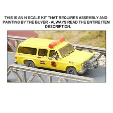 """N SCALE: CHEVROLET """"FIRE CHIEF'S VEHICLE"""" - GHQ KIT #51014"""