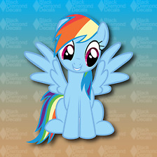 "New 6"" RAINBOW DASH DECAL My Little Pony Sticker Girls Horse Decor Laptop Car"