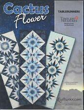 Cactus Flower Paper Piecing Table runner Pattern by Judy Niemeyer