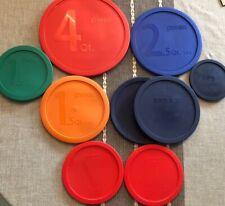 Pyrex Covers Plastic Lids 4 qt. to 1 Qt Lot of 9