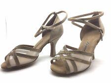 Chaussure de danse de salon pour femme:diamant couleur:beige taille: 34