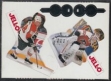 SCD10 JELLO HOCKEY PLAYER CARDS IN SHAPE OF PLAYERS ROUSSEL/LINDROS - FLYERS