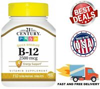 VITAMIN B12 FAST Dissolve 2500 Mcg High Energy Booster Sublingual 110 Tablets