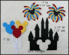 Die Cut Disney Magic Kingdom CASTLE Mickey Fireworks Balloons Scrapbook Piecing