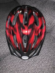 Youth Mongoose Bike Bicycle Skate Safety Helmet Red Black Adjustable Chin Straps