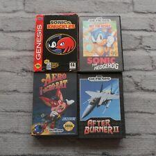 CIB Sonic the Hedgehog 1 Knuckles Aero The Acrobat After Burner 2 Video Game