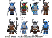 8 Pcs Star Wars Baby Yoda Mandalorian Full Color Darth Maul Leia Rey Lego MOC