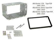 CT23AR01 ALFA ROMEO 159 2005 - 2011 tipo 939 Nero Fascia doppio DIN Kit di montaggio