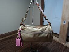 Coach #124 Champagne Satin Mini Speedy Shoulder Bag, RARE, SOILED, SEE NOTES