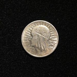 Poland 1934 2 Zlote Silver Coin Beautiful Coin