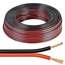 25m Red & Black 0.5mm Loud Speaker Cable Wire Ideal for Car Audio & Home HiFi