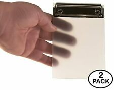Mini Clipboard Frosted Small Transparent Plastic Memo Notes Tickets 4
