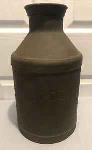 """Old Vintage 1946 Hood Milk Keiner Williams Dairy Advertising Metal 14"""" Can Jug"""