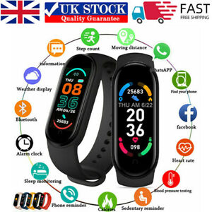 Sports Fitness Tracker Watch Heart Rate Blood Pressure Fitbit Activity Monitor