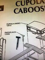 Athearn HO Steel Cupola Caboose Parts - Smokejack (smokestack) Part #12508 NEW
