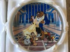 """Walt Disney Beauty And The Beast Knowles Collector Plate """"Love's First Dance�"""