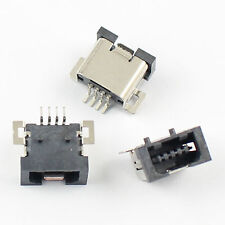 10Pcs Mini USB 4 Pin Female SMT SMD PCB Socket Connector DIY