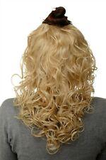 Hair Piece half Wig Clip-In Hair Extension Curls Gold-Blonde 40cm H9312-611