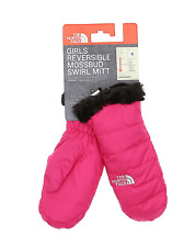 The North Face Kids Reversible Mossbud Swirl Mitt Mr. Pink Girl's Size S 2315