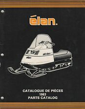 1983 Ski-Doo Elan Snowmobile Parts Manual P/N 480 1166 00 (321)