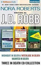 Three in Death CD Collection by J. D. Robb   (Unabridged Audiobooks on CDs)