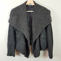 JUST JEANS | Womens grey Draped  Jacket [ Size AU 8 or US 4]