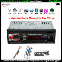 1Din Bluetooth Autoradio Stéréo FM WMA Lecteur MP3 SD/AUX In-dash Mains libres