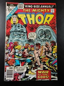 🔨 THOR #5 Annual 1st App Toothgnasher Toothgrinder (1976 MARVEL Comics) VG Book