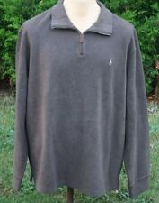 Men's NWT Brown Ralph Lauren 1/4 Zip Pull-over Sweater Size 2XL