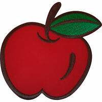 Embroidered Iron On Red Apple Patch Sew On Badge Clothes Bag Embroidery Applique
