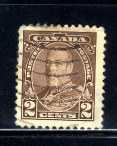 1935 Canada 2c Brown Stamp  Scott #218 A81 Canc/VLH