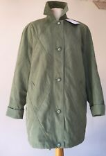 "PRELOVED KNEE LENGTH WALKING JACKET 38"" BUST - GREEN"