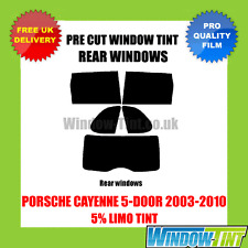 PORSCHE CAYENNE 5-DOOR 2003-2010 5% LIMO REAR PRE CUT WINDOW TINT