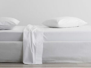 Sheridan 300 Thread Count Organic Cotton Snow King Size Fitted Sheet