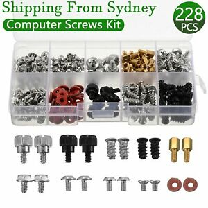 228Pcs Computer PC Screws Kit Case Motherboard For CD-ROM Hard Disk Repair Tool