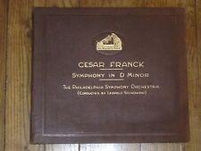 CESAR FRANCK SYMPHONY D STOKOWSKI PHILADELPHIA ORCH D 1404 -8 5x 78RPM HMV UK