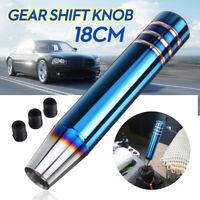 18cm Aluminum Universal Car Gear Shift Knob Shifter Lever Manual Long W/ Adapter