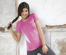 nike club pro ladies pink t-shirt - size large * aerobics boxercise fitness gym