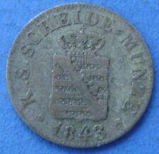 1843 Deutsches Reich Germany - 1/2 GROSCHEN 1843 SACHSEN