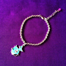 Punkyfish Bracelet - Silver Chain 16cm approx - Light Blue - Gift Box Included