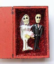 Mexican Folk Art Day of the Dead Wedding Couple Amor Eterno Box