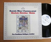 ARCHIV 2533 404 Busnois Missa L'Homme Arme Binchois Motets NEAR MINT Gatefold LP