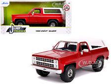 1980 CHEVROLET BLAZER K5 OFF ROAD METALLIC RED 1/24 DIECAST CAR BY JADA 31594