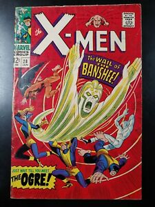 ⭐️ The X-MEN #28 1st Appearance Banshee (1967 MARVEL Comics) VG Book