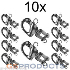10x 70mm Stainless Steel Swivel Jaw Snap Shackle FREE POSTAGE + PACKAGING!