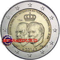 2 Euro Commémorative Luxembourg 2014 - Trône du Grand Duc Jean