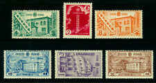 CHINA 1937 MANCHUKUO Extraterritorial Rights abolition set Scott # 121-6 mint MH