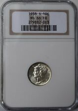 """1938-S Mercury Dime """"NGC MS66 Full Bands"""" *Free S/H After 1st Item*"""