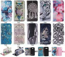 Stylish Colorful Printed Book Style Wallet Flip PU Leather Case Cover For Phones